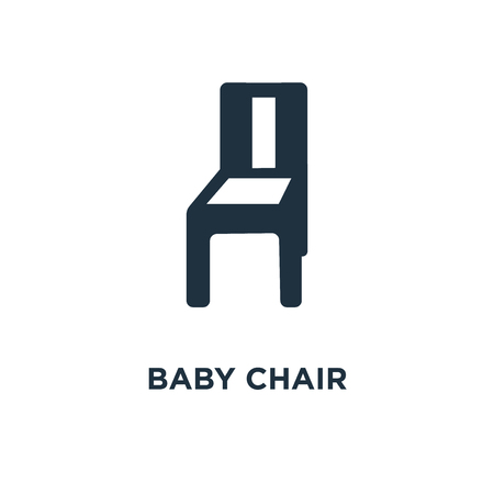 Baby Chair Icon Black Filled Vector Illustration Baby Chair