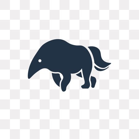 Illustration pour Anteater vector icon isolated on transparent background, Anteater transparency concept can be used web and mobile - image libre de droit