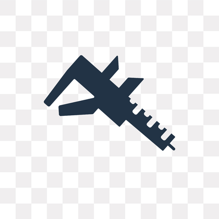 Caliper Vector Icon Isolated On Transparent Background Caliper