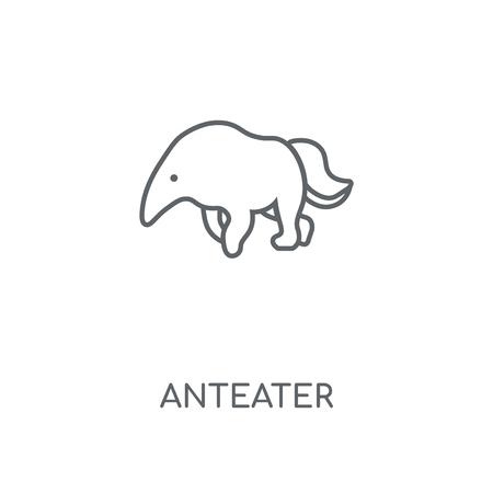 Illustration pour Anteater linear icon. Anteater concept stroke symbol design. Thin graphic elements vector illustration, outline pattern on a white background, eps 10. - image libre de droit