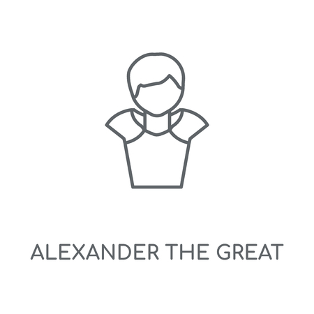 Alexander the great linear icon. Alexander the great concept stroke symbol design. Thin graphic elements vector illustration, outline pattern on a white background, eps 10.