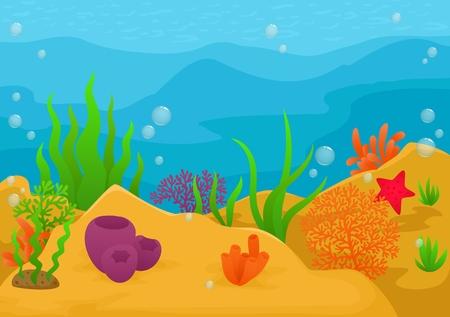 Illustration pour Underwater landscape background - image libre de droit