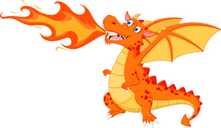 Foto per Angry dragon with fire - Immagine Royalty Free