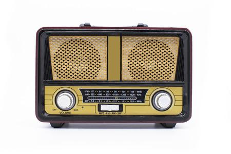 Photo for Modern retro radio isolated on white - Royalty Free Image