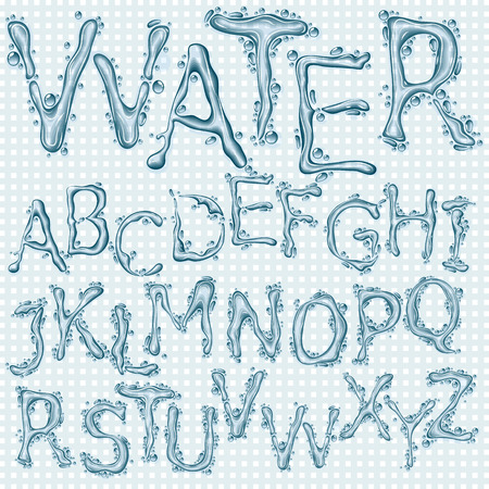 Water splash headline letters