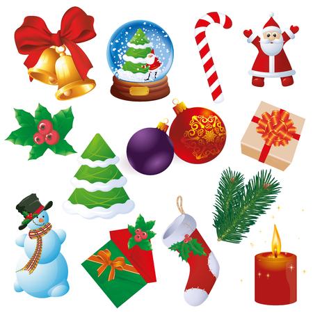 Ilustración de Christmas and new year design and decoration vector element set. - Imagen libre de derechos