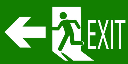 Illustration pour sign of an emergency or fire exit - image libre de droit
