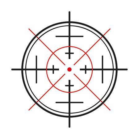 crosshair of the gun on white background
