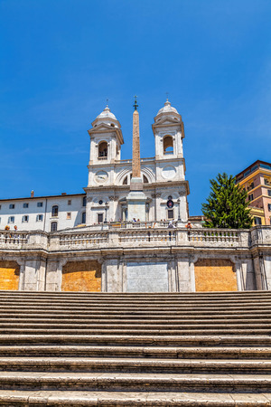 The Spanish Steps and the church of the Santissima Trinit dei Monti