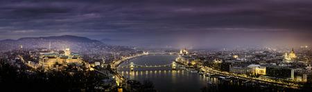 Night panoramic view at budapest