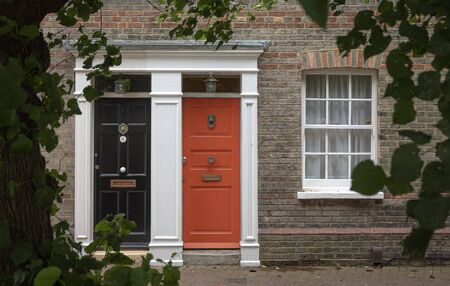 Photo for Frontdoor of english mansion in london great brittain in summer - Royalty Free Image