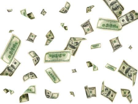 Photo for Dollar bill. Washington american cash. Usd money background. Money falling. - Royalty Free Image