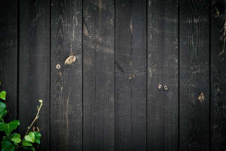 Foto de Texture background grunge. Old floor wooden pattern. Timber plank surface wall for vintage grunge wallpaper. Dark grain panel board table with copy space. Natural wood decoration concept. - Imagen libre de derechos