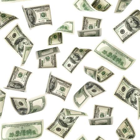 Photo pour Seamless money pattern. Dollar bill. Washington American cash. Usd money isolated on white background - image libre de droit