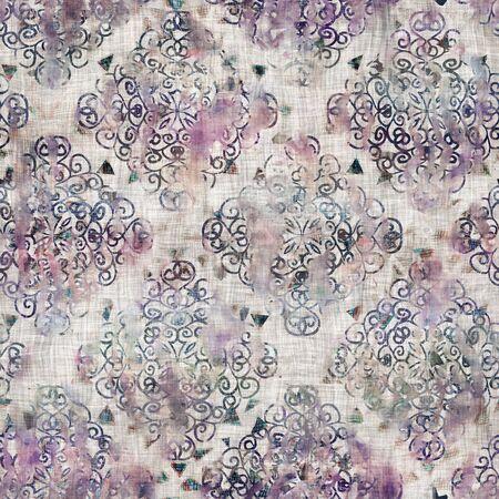 Photo pour Mixed media collage aged seamless pattern swatch - image libre de droit
