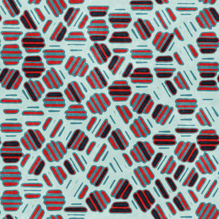 Photo for Red and navy textured urban seamless pattern - Royalty Free Image