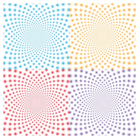 Ring optical illusion  Vector EPS