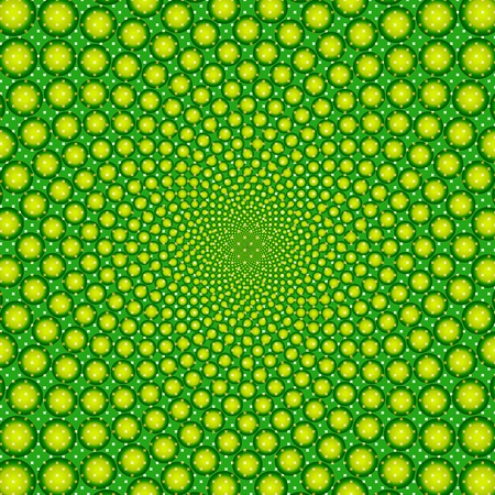 cyclic optical illusion-Vector EPS