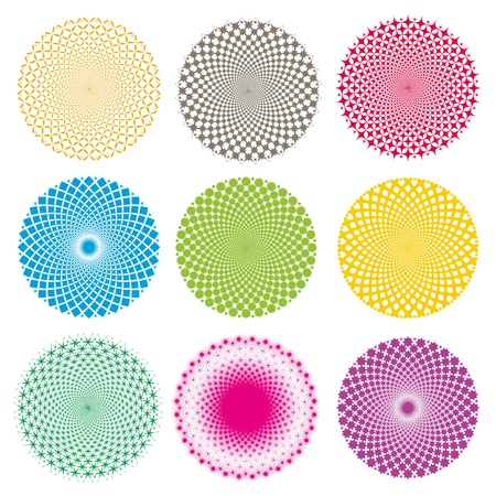 Optical illusion-Vector EPS