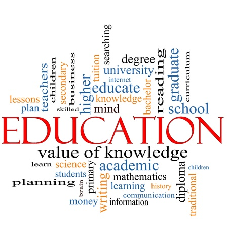 Photo for A word cloud concept around the word Education with great terms such as degree, diploma, university, reading and more. - Royalty Free Image