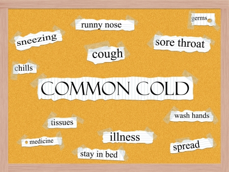 Common Cold Corkboard Word Concept