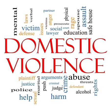 Domestic Violence Word Cloud Concept with great terms such as victim, assault, judge, harm, social, education and more.