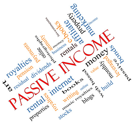 Passive Income Word Cloud Concept