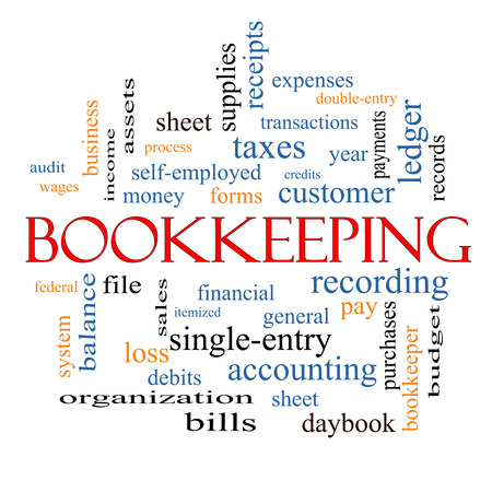 Bookkeeping Word Cloud Concept with great terms such as financial, records, ledger and more.