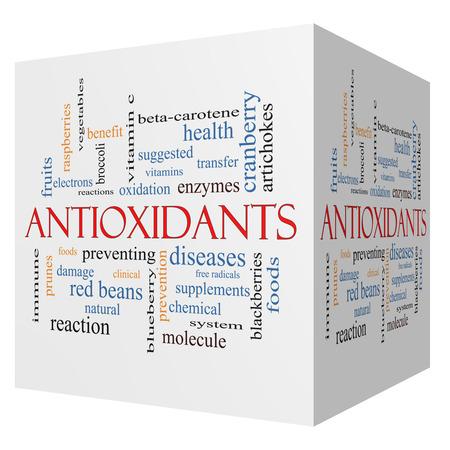Foto für Antioxidants 3D cube Word Cloud Concept with great terms such as foods, prevent, diseases and more. - Lizenzfreies Bild
