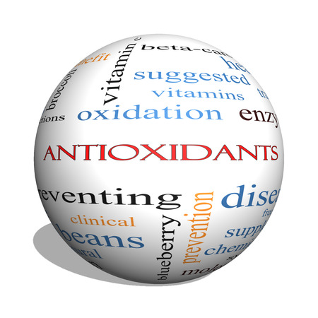 Foto für Antioxidants 3D sphere Word Cloud Concept with great terms such as foods, prevent, diseases and more. - Lizenzfreies Bild