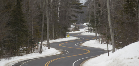 A Long and Winding Road section in Winter on a northern Wisconsin day