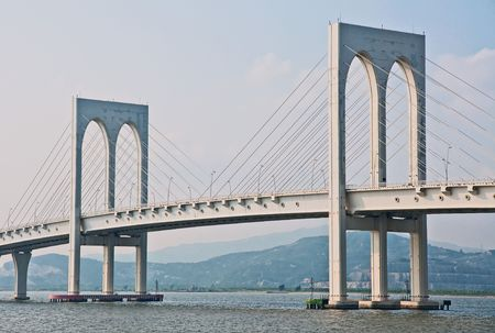 Macao white bridge