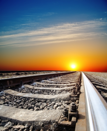 railroad to sunset