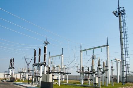 Photo pour part of high-voltage substation - image libre de droit
