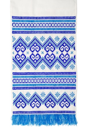 embroidered good by cross-stitch pattern  ukrainian ethnic ornament