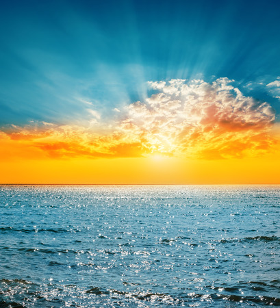 Photo for good sunset and sea - Royalty Free Image
