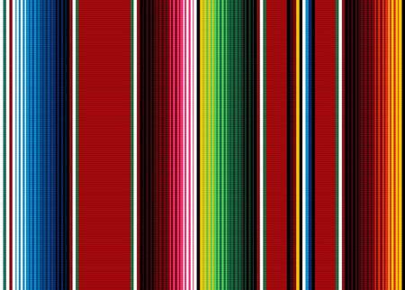 Illustration pour Blanket stripes seamless vector pattern. Background for Cinco de Mayo party decor or ethnic Mexican fabric pattern with colorful stripes. Serape design - image libre de droit