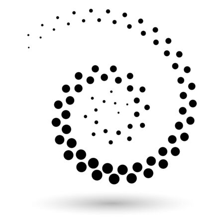 Illustration pour Abstract dotted vector background. Halftone effect. Spiral dotted background or icon - image libre de droit