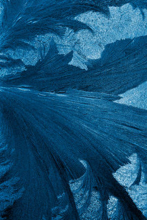 frost pattern on a windowpane closeup, x-ray effect