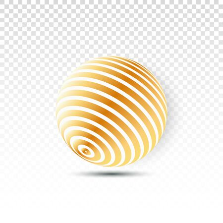Illustration for Disco ball isolated illustration. Night Club party light element. Bright mirror golden ball design for disco dance club. - Royalty Free Image