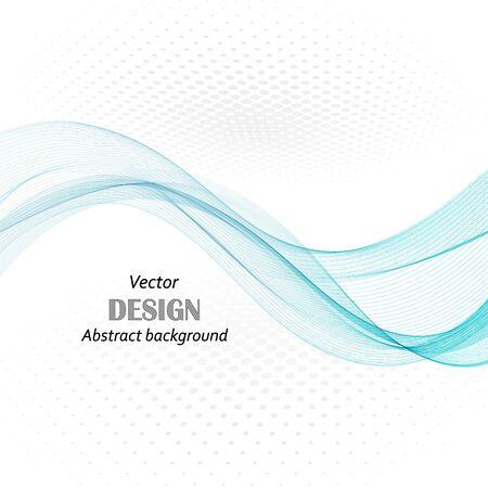 Illustration pour abstract blue business technology colorful wave vector background eps10 - image libre de droit