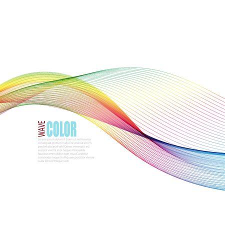 Ilustración de Abstract vector colorful background with transparent smoke - Imagen libre de derechos