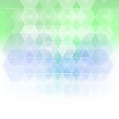 Illustration for Blue and green colored geometric vector pattern background - Royalty Free Image