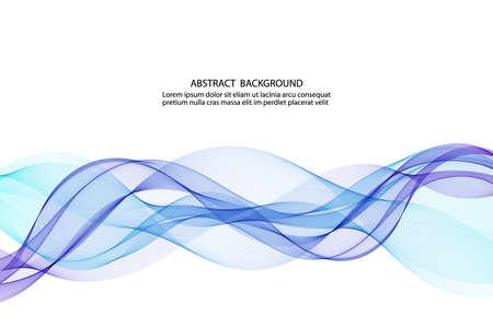 Illustration pour abstract blue business technology colorful wave vector background - image libre de droit