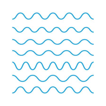 Illustration pour Waves outline icon, modern minimal flat design. Wave thin line symbol. Waves icons vector - image libre de droit