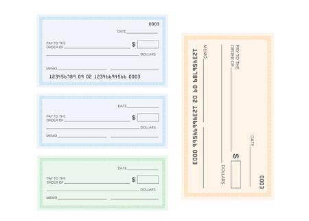 Illustration pour Check template bank. Blank check icon vector - image libre de droit