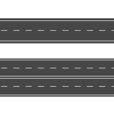 Horizontal roads. Street vector road flat. Asphalt road sign
