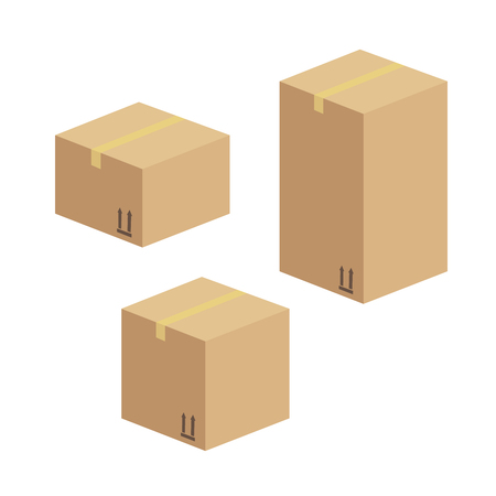 Illustration pour Delivery and packing box. Delivery warehouse pack - image libre de droit