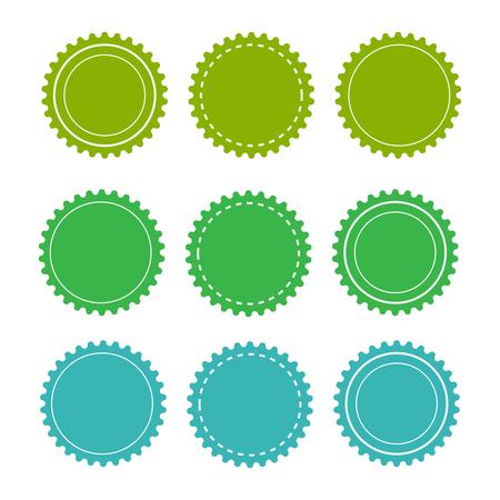 Illustration pour Eco green badges and labels. Organic badge background vector - image libre de droit
