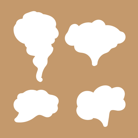Illustration pour Jet trailing smoke isolated. Steam, cloud and smoke icons - image libre de droit